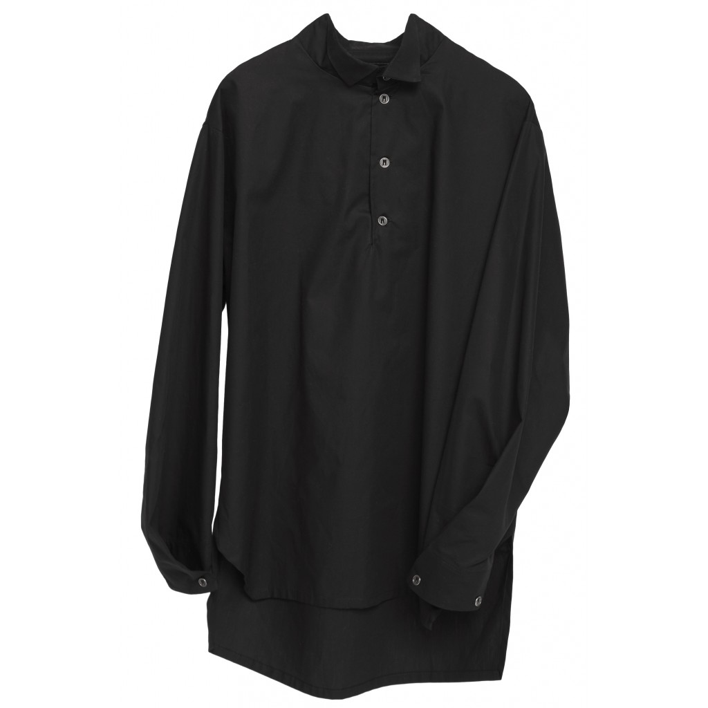 Рубашка Black stand collar