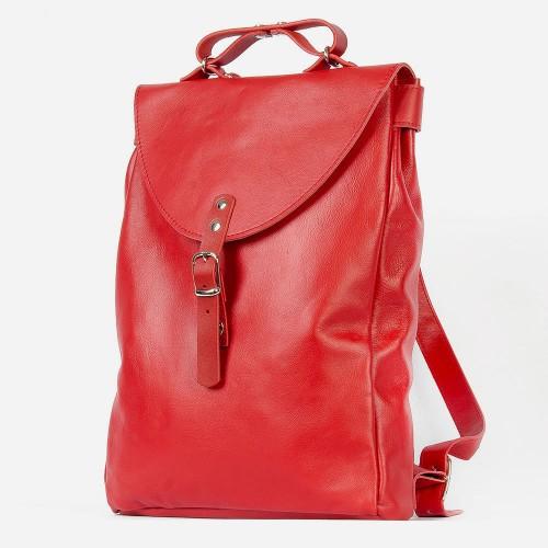 Красный рюкзак City 2.0 из натуральной кожи