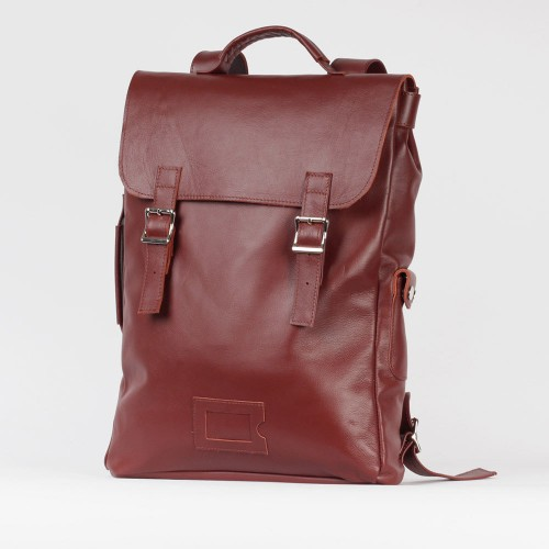 Большой каштановый рюкзак 2.0 из натуральной кожи