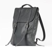 Темно-серый средний рюкзак 2.0 из натуральной кожи