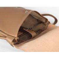 Телесный рюкзак Satchel из натуральной кожи