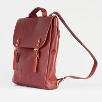 Каштановый рюкзак Satchel из натуральной кожи