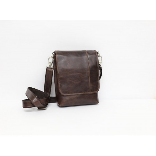 Мужская кожаная сумка с клапаном - Бристоль