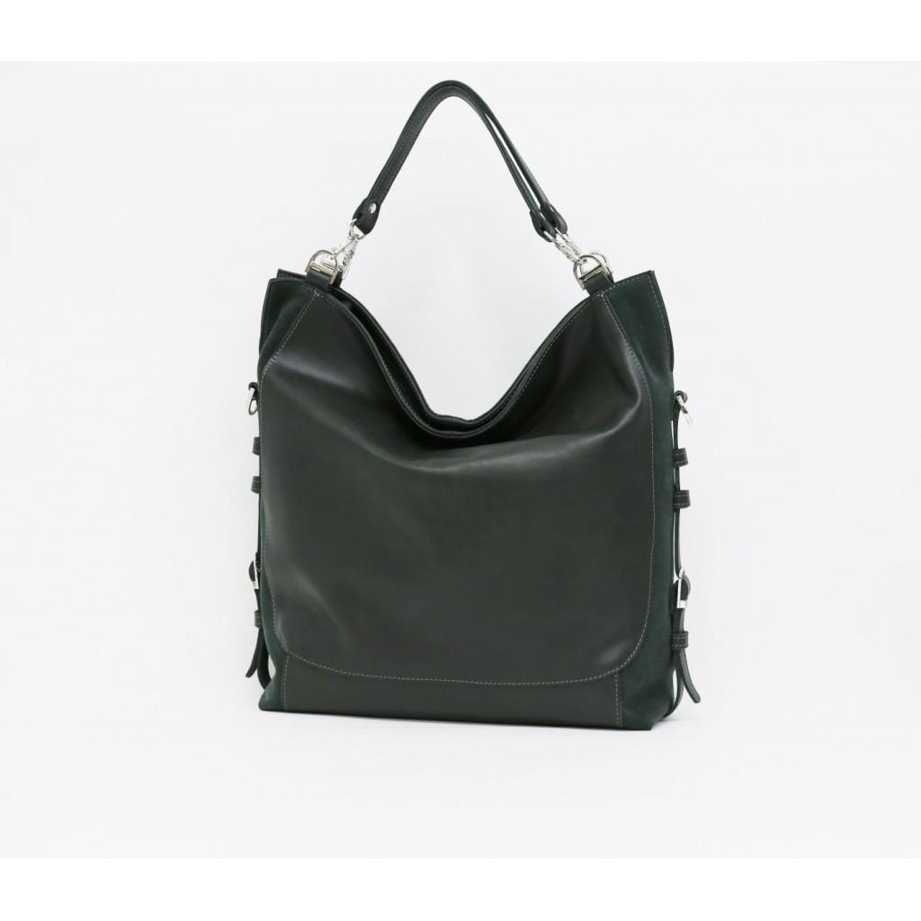 Женская кожаная сумка - Шоппер